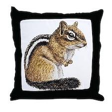 Chipmunk Cutie Throw Pillow