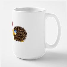 Cuddley Hedgehog Couple Large Mug