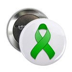 "Green Awareness Ribbon 2.25"" Button (100 pack)"