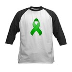 Green Awareness Ribbon Kids Baseball Jersey