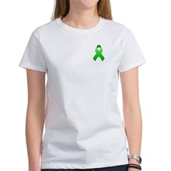 Green Awareness Ribbon Women's T-Shirt