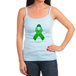 Green Awareness Ribbon Jr. Spaghetti Tank