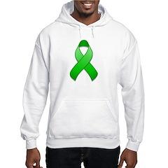 Green Awareness Ribbon Hoodie