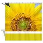 Sunflower Photography Shower Curtain