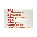 The Difference (red/orange) Rectangle Magnet (100