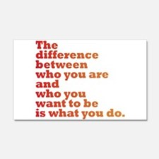 The Difference (red/orange) Wall Decal