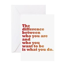 The Difference (red/orange) Greeting Card