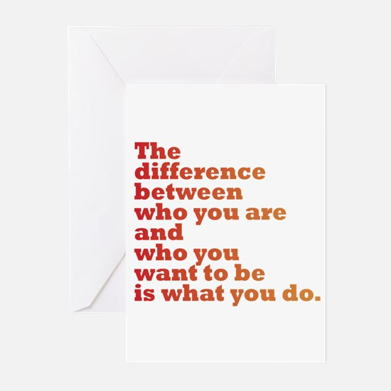 The Difference (red/orange) Greeting Cards (Pk of