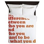 The Difference (red/orange) Queen Duvet