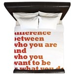 The Difference (red/orange) King Duvet