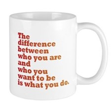 The Difference (red/orange) Mug