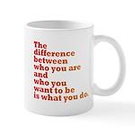 The Difference (red/orange) Mug