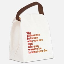 The Difference (red/orange) Canvas Lunch Bag