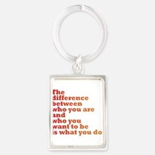 The Difference (red/orange) Portrait Keychain