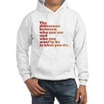 The Difference (red/orange) Hooded Sweatshirt