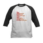 The Difference (red/orange) Kids Baseball Jersey