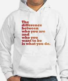 The Difference (red/orange) Hoodie