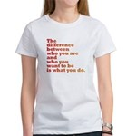 The Difference (red/orange) Women's T-Shirt