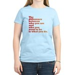 The Difference (red/orange) Women's Light T-Shirt