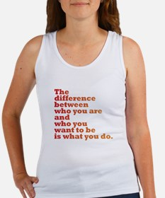 The Difference (red/orange) Women's Tank Top