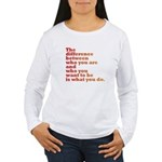 The Difference (red/orange) Women's Long Sleeve T-