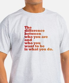 The Difference (red/orange) T-Shirt