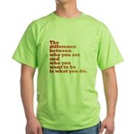 The Difference (red/orange) Green T-Shirt