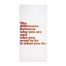 The Difference (red/orange) Beach Towel