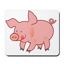 Little Curly Tailed Pig Licking His Lips Mousepad