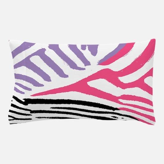 Colorful Zebra Stripe Pillow Case