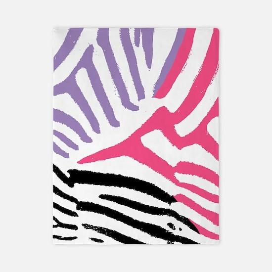 Colorful Zebra Stripe Twin Duvet