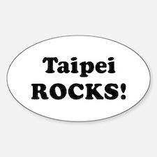 Taipei Rocks! Oval Decal