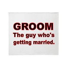 GROOM Throw Blanket