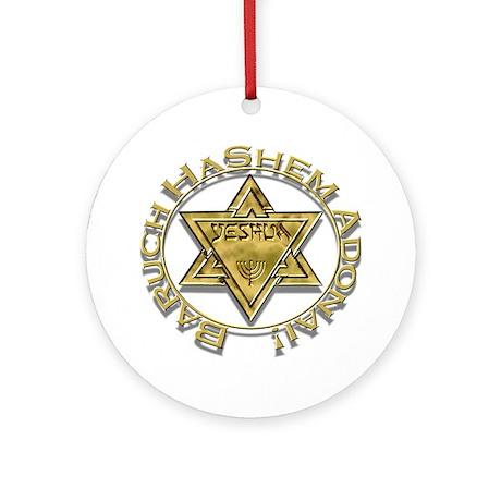 Baruch Yeshua! Ornament (Round)