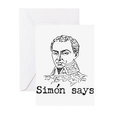 Simon Bolivar Greeting Card