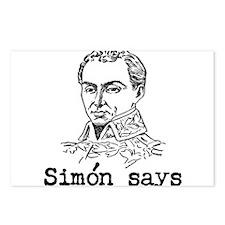 Simon Bolivar Postcards (Package of 8)