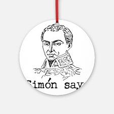 Simon Bolivar Ornament (Round)