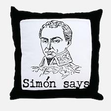 Simon Bolivar Throw Pillow