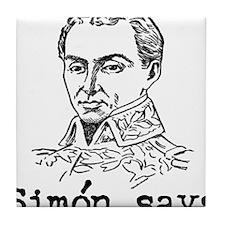 Simon Bolivar Tile Coaster