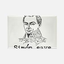 Simon Bolivar Rectangle Magnet
