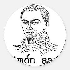 Simon Bolivar Round Car Magnet