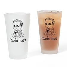 Simon Bolivar Drinking Glass
