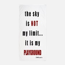 the sky is not.png Beach Towel