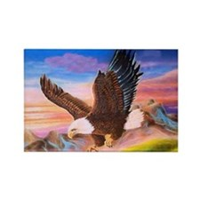Soaring Eagle Rectangle Magnet