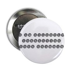 "silently-grammar-TYPE-GRAY 2.25"" Button (10 pack)"