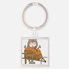 Cute Fall Square Keychain