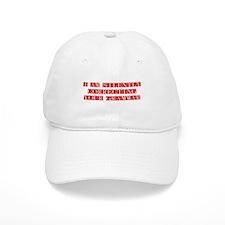 silently-grammar-FLE-DARK-RED Baseball Baseball Cap