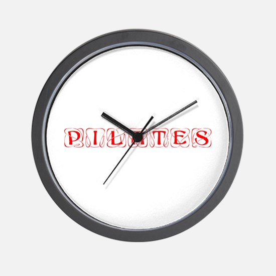 pilates-kon-red Wall Clock