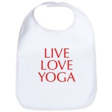 LIVE-LOVE-YOGA-OPT-RED Bib