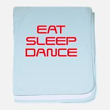 eat-sleep-dance-saved-red baby blanket